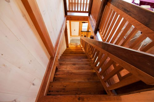 barn interior stairs from second floor