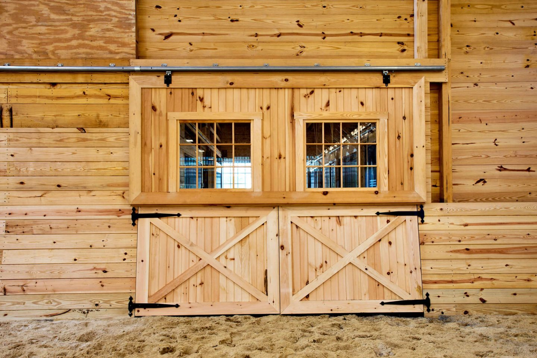 new restored barn doors and windows