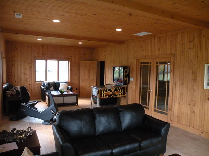 living area inside horse barn built by sms buiders