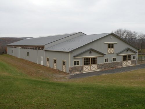 horse barn construction project